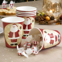 Let It Snow - Father Christmas Paper Cups (8)